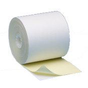"3 1/4"" X 85' 2 PLY White/Canary 50 rolls/case"