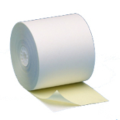 "3"" X 90' 2 PLY White/Canary 50 rolls/case"