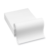 "9 1/2 x 11"" 20lb Recycled Blank Clean Edge Paper, 2400 Shts/Cs"