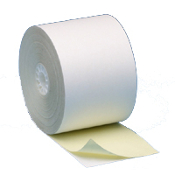 "2 1/4"" X 95' 2 PLY White/Canary 50 rolls"