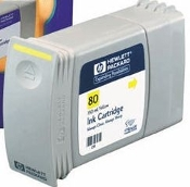 HP 80 Compatible Inkjet Cartridge, Yellow, 1/Box
