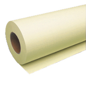 "30"" x 500' Wide Format Canary 20lb Bond Paper Roll, 2/Case"