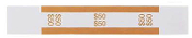 $50 Currency Bands, ABA Orange, Self-Stick 1000/PK