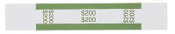$200 Currency Bands, ABA Green, Self-Stick 1000/PK
