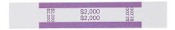$2000 Currency Bands, ABA Violet, Self-Stick 1000/PK