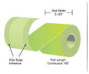 "3 1/8"" x 160' MaxStick Green Thermal Side Edge Adhesive, 24'S"